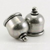 """Концевик для шнура 10 мм TierraCast """"Taj"""" (цвет-античное серебро) 17х13 мм ()"""