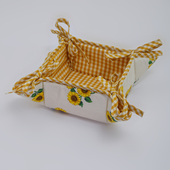 Хлебница 17х17 Old Florence Girasoli желтая