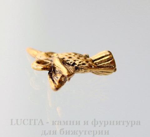"""Подвеска """"Колибри"""" 18х14 мм (цвет - античное золото)"""