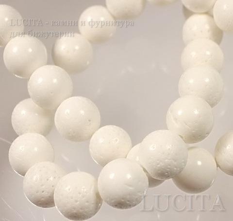Бусина Коралл (искусств), шарик, цвет - белый, 14 мм, нить ()