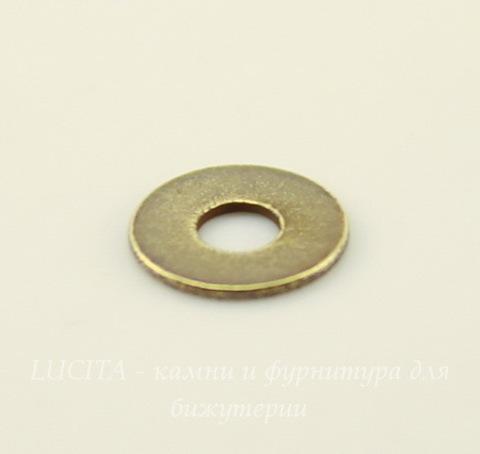 Микро-шайба TierraCast (цвет-античная латунь) 6 мм, 5 штук