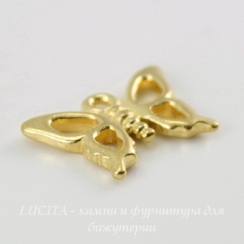 "Подвеска TierraCast ""Бабочка"" (цвет-золото) 16х12 мм ()"