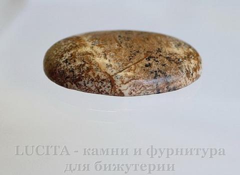 Кабошон овальный Яшма Пейзажная 40х30х8 мм №14 ()
