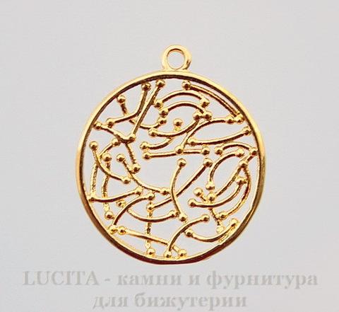 """Подвеска """"Этническая"""" 20х18 мм (цвет - золото)"""