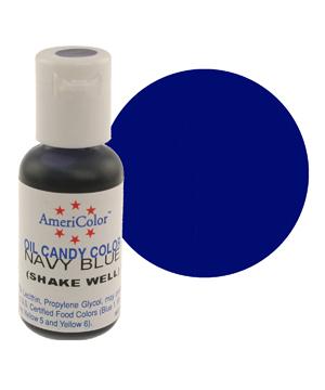 Краска для шоколада AmeriColor  NAVY BLUE, 19 гр.