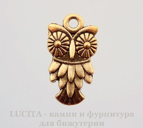 "Подвеска ""Сова"" 19х11 мм (цвет - античное золото)"