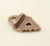 """Концевик для плоского шнура TierraCast """"Листик"""" (цвет-античная медь) 19х11,5 мм"""