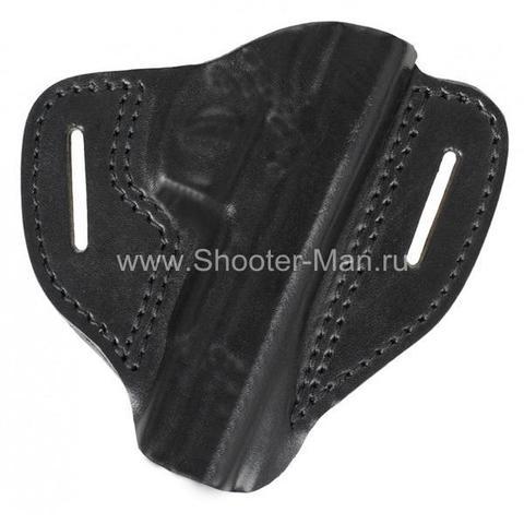 Кожаная кобура на пояс для пистолета Гроза - 03 ( модель № 1 )
