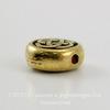 """Бусина круглая плоская TierraCast """"Кельтский узел"""" 7х3 мм (цвет-античное золото) ()"""