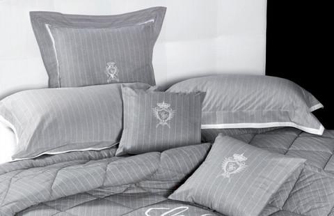 Постельное белье 2 спальное евро макси Cesare Paciotti Lord Byron светло-серое