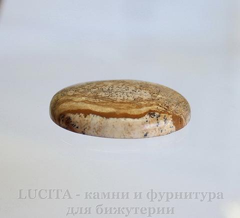 Кабошон овальный Яшма Пейзажная 40х30х8 мм №16 ()