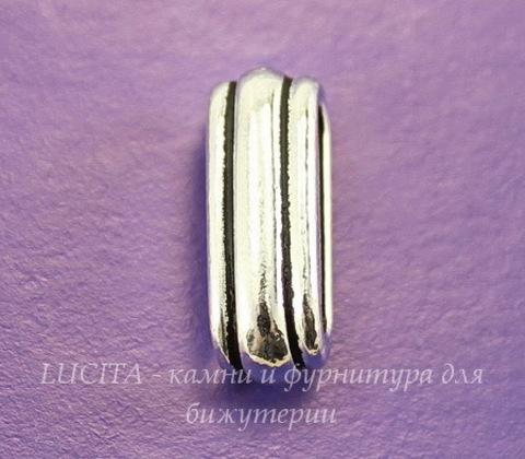 """Бусина для шнура 12х2 мм TierraCast """"Deco slide"""" 17х7х6 мм (цвет-античное серебро)"""