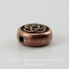 """Бусина круглая плоская TierraCast """"Кельтский узел"""" (цвет-античная медь) 7х3 мм"""
