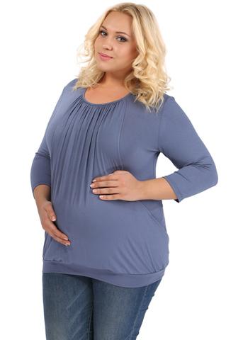 Блуза ПБВ07 индиго для беременных и кормящих