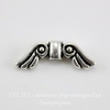 "Бусина TierraCast ""Крылья ангела"" 14х5 мм (цвет-античное серебро) 14х5 мм ()"