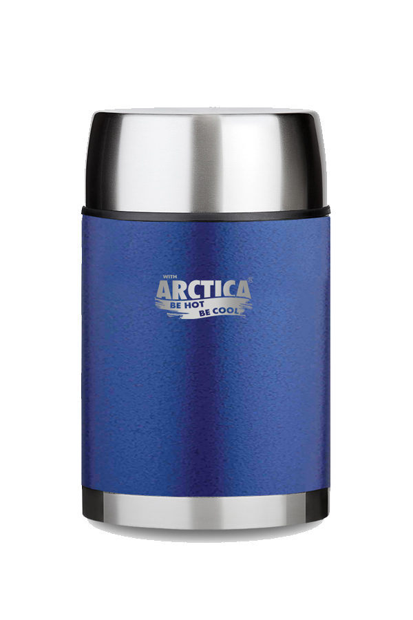 Термос для еды Арктика (0,6 л.) с супер-широким горлом, синий