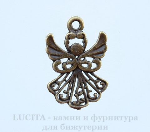 "Подвеска ""Ангел"" 20х14 мм (цвет - античная бронза)"
