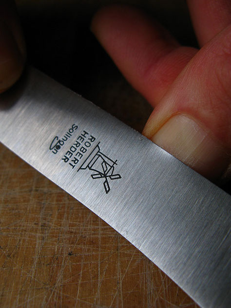 Нож для завтрака Buckelsklinge 118 (грецкий орех) Robert Herder Solingen