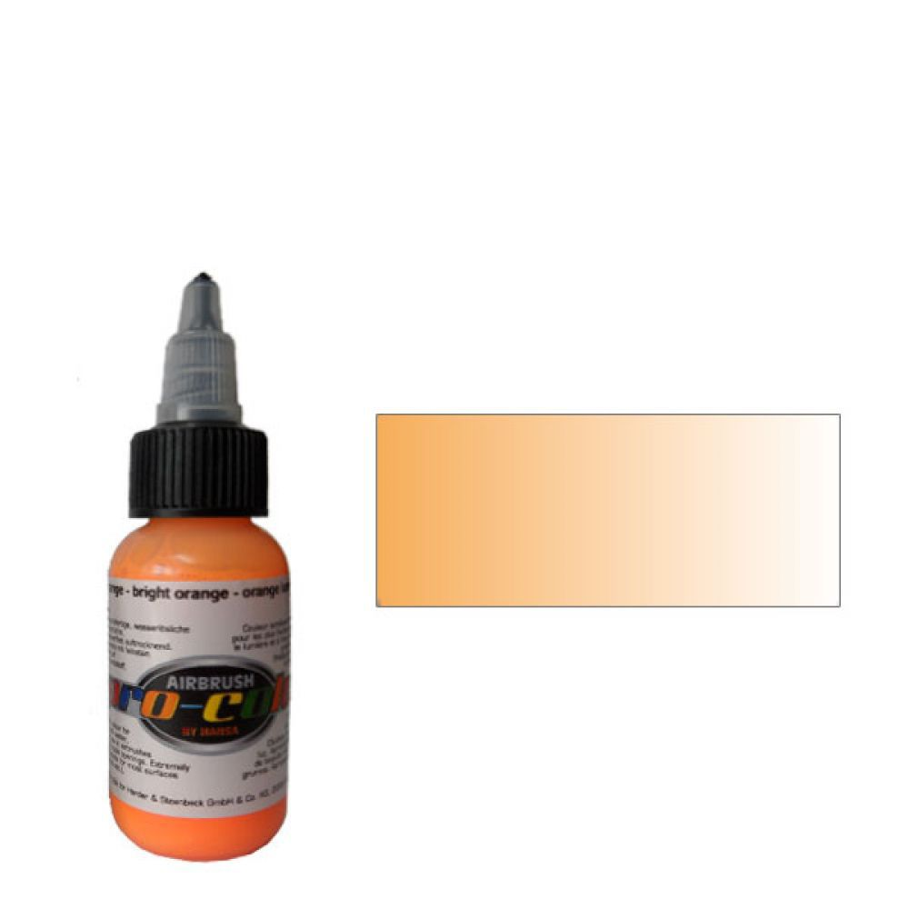62051 Краска для аэрографии Pro-Color Bright Orange ОРАНЖЕВЫЙ 30мл. флуорисцентный
