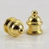 "Концевик для шнура 6 мм TierraCast ""Pagoda"" (цвет-золото) 13х10 мм"