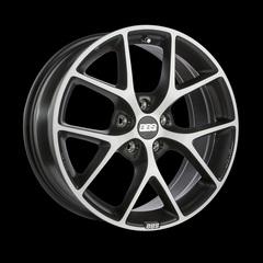 Диск колесный BBS SR 7.5x17 5x114.3 ET42 CB82.0 volcano grey/diamond cut