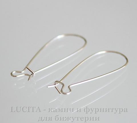 Швензы - петли длинные (цвет- серебро) 33х14 мм, пара ()