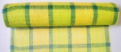 Ткань джутовая желто-зеленая квадрат 5м*50см