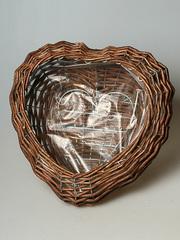 Плетеное кашпо сердце 954203S