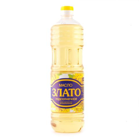 """Масло """"Злато"""" подсолнечное рафинированное, 1 л"""