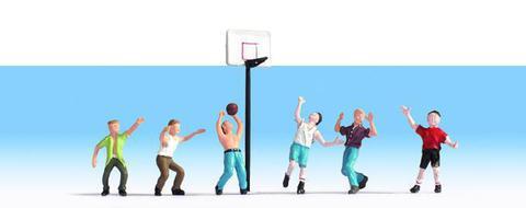 Noch 15882 Баскетболисты, 6 фигур + аксессуары