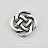 """Коннектор TierraCast """"Кельтский узел"""" (2-2) 10х10 мм (цвет-античное серебро) ()"""