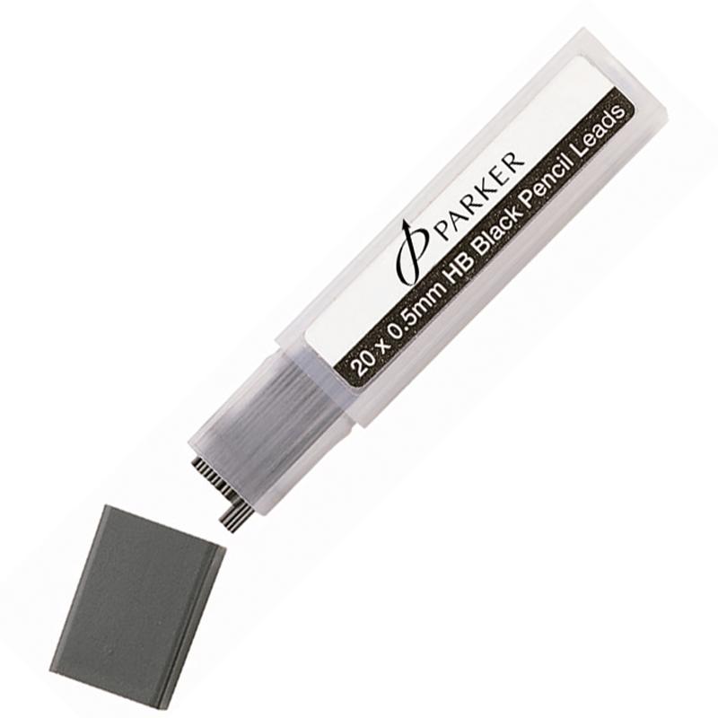 Parker Грифели для механического карандаша, 0.5 мм, HB, 20 шт в упаковке
