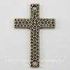 "Коннектор TierraCast ""Крест"" (1-1) 40х26 мм (цвет-античная латунь) ()"