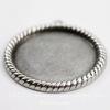 """Сеттинг - основа - подвеска """"Плетенка"""" для камеи или кабошона 25 мм (оксид серебра) ()"""