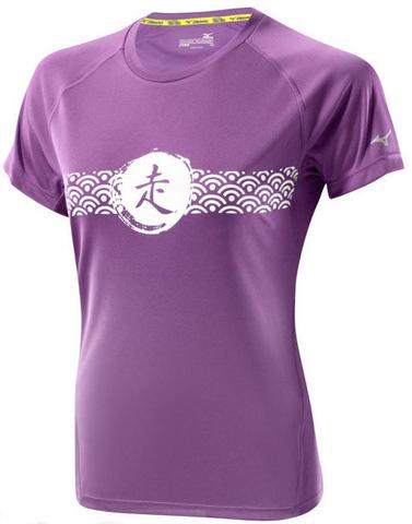 Футболка беговая женская Mizuno DryLite Wave Tee purple