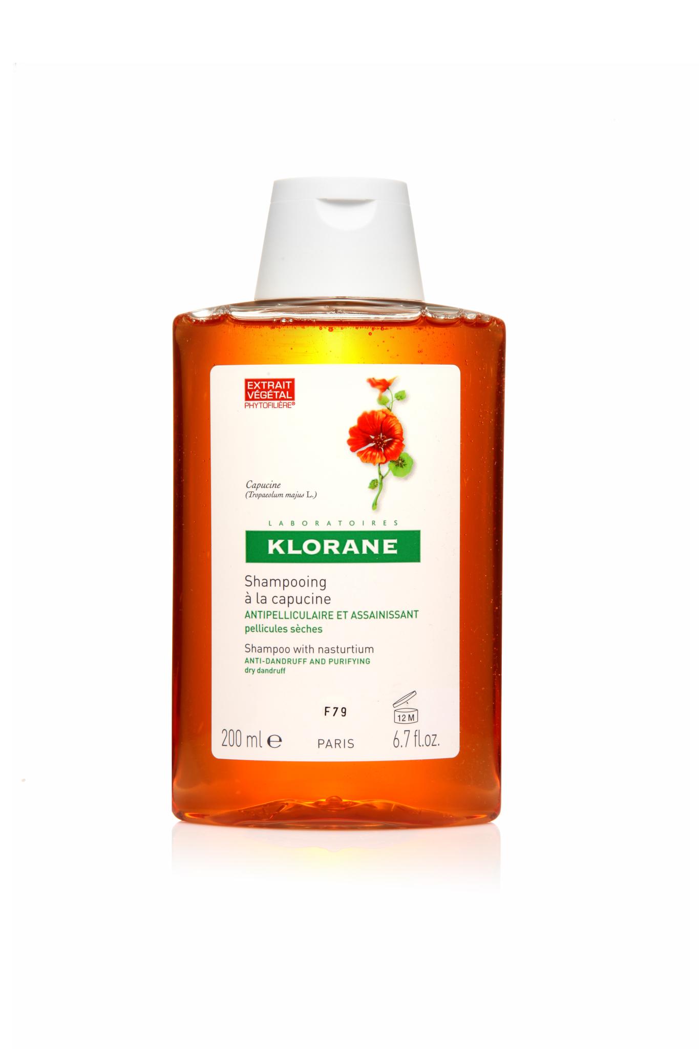 Klorane шампунь c экстрактом настурции от сухой перхоти 200 мл.