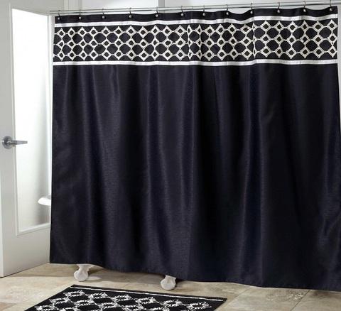 Элитная шторка для ванной Williamsberg Keswick черная от Avanti