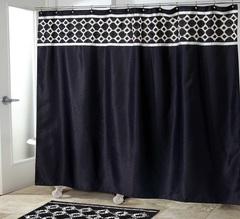 Шторка для ванной 183x183 Avanti Williamsberg Keswick черная