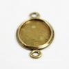Сеттинг - основа - коннектор (1-1) для камеи или кабошона 14х10 мм (оксид латуни)