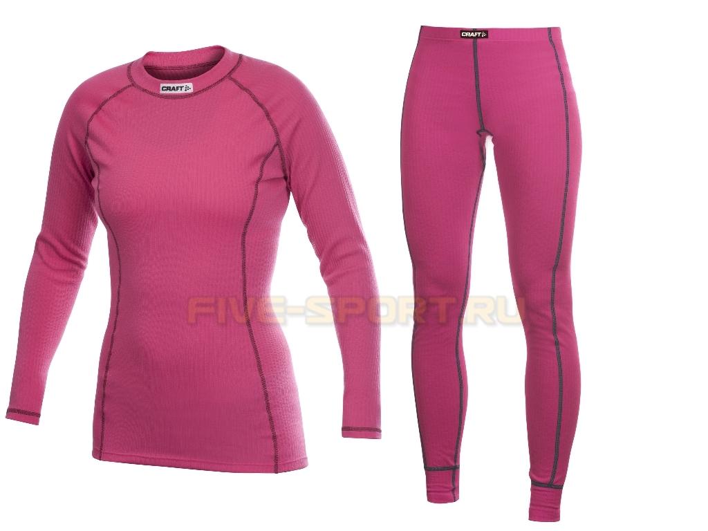 Комплект термобелья Craft Active Pink женский