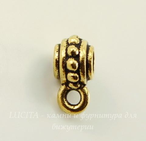"Бейл TierraCast ""Бусинки"" 9х5 мм (цвет-античное золото)"