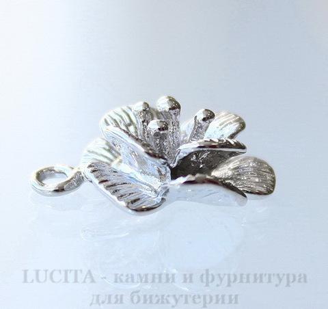 """Подвеска """"Цветок"""" 18х15 мм (цвет - платина)"""