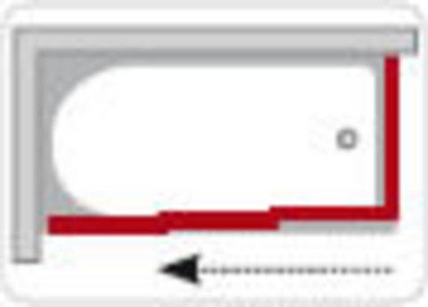 Ravak Supernova Grape жесткая стенка для ванны APSV-75 (95030102ZG)