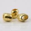 Бусина для шнура 4х2 мм TierraCast 7х5х5 мм (цвет-золото) ()