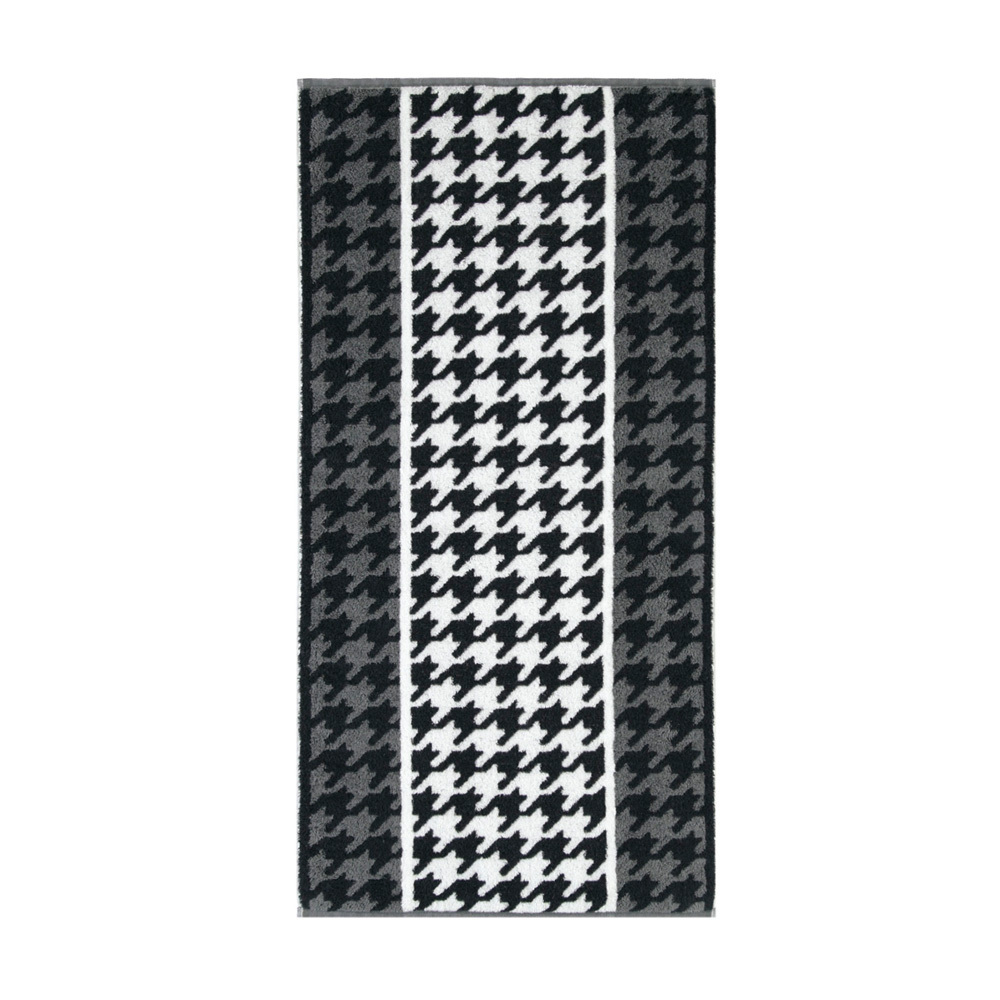 Полотенце 70х140 Cawo Black & White Jacquard 521 черно-белое