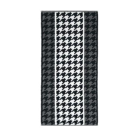 Полотенце 70х140 Cawo Black & White Jacquard 521 черно-белое