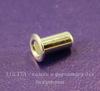 Заклепка с отверстием TierraCast 5,3х2,2 мм (цвет-серебро), 5 штук