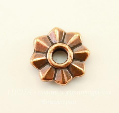 "Элемент под заклепку TierraCast ""8 Point"" (цвет-античная медь) 10 мм"