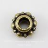 Бусина - рондель TierraCast 10х6 мм (цвет-античная латунь) ()