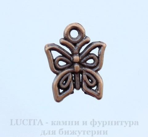 """Подвеска """"Бабочка"""" 15х13 мм (цвет - античная медь)"""
